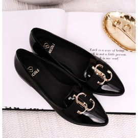 Women's Loafers Lordsy Patent Leather Black Nicole 2588 2