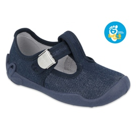 Befado children's shoes blanka navy blue 115X005 silver 1
