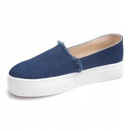 Slip On Jeans 80138 Navy Blue 1