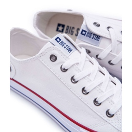 Big Star Sneakers tied white DD174271 red 2