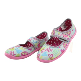 Befado children's shoes 945X430 pink grey multicolored 3