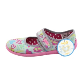 Befado children's shoes 945X430 pink grey multicolored 5