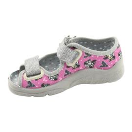 Befado children's shoes 969X162 pink silver 2