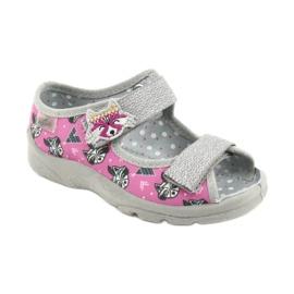 Befado children's shoes 969X162 pink silver 1