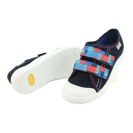 Befado children's shoes 672X071 red navy blue 4