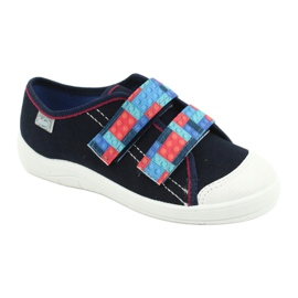 Befado children's shoes 672X071 red navy blue 1