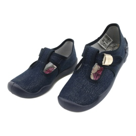Befado children's shoes blanka navy blue 115X005 silver 4