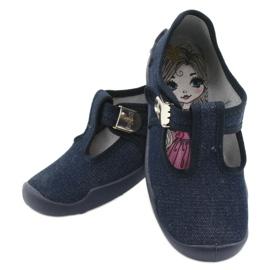 Befado children's shoes blanka navy blue 115X005 silver 6