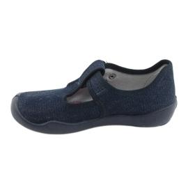 Befado children's shoes blanka navy blue 115X005 silver 3