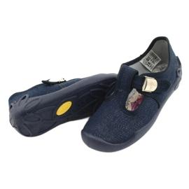 Befado children's shoes blanka navy blue 115X005 silver 5