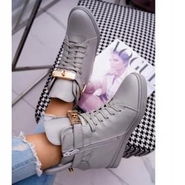 Women's Sneakers On Wedge Gold Padlock Gray Tersey grey 4