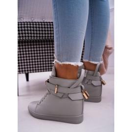 Women's Sneakers On Wedge Gold Padlock Gray Tersey grey 3