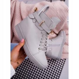 Women's Sneakers On Wedge Gold Padlock Gray Tersey grey 5