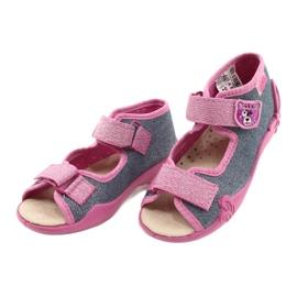 Befado yellow children's shoes 342P017 pink grey 3