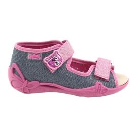 Befado yellow children's shoes 342P017 pink grey 1