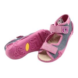 Befado yellow children's shoes 342P017 pink grey 4