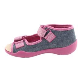 Befado yellow children's shoes 342P017 pink grey 2