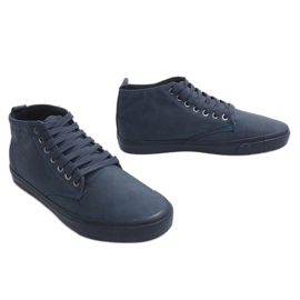Stylish High-top Sneakers Y007 Navy Blue 3