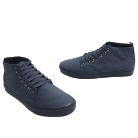 Stylish High-top Sneakers Y007 Navy Blue 4