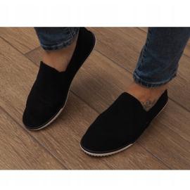 Lycra D16M Black Slip-On Sneakers 1