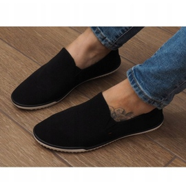Lycra D16M Black Slip-On Sneakers 3