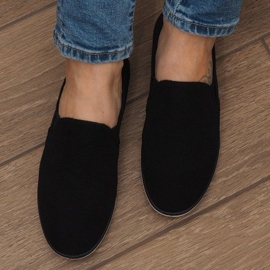 Lycra D16M Black Slip-On Sneakers 4