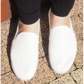 Lycra BL181-2 White Slip-On Sneakers 1