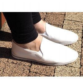 Lycra BL181-2 White Slip-On Sneakers 2