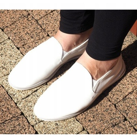 Lycra BL181-2 White Slip-On Sneakers 3
