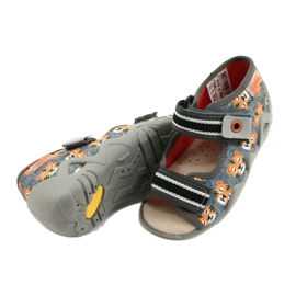Befado yellow children's shoes 350P016 orange grey 4