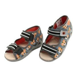 Befado yellow children's shoes 350P016 orange grey 3