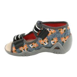 Befado yellow children's shoes 350P016 orange grey 2