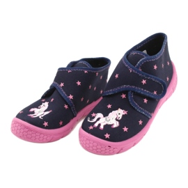 Befado children's shoes 538P015 navy pink multicolored 3