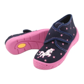 Befado children's shoes 538P015 navy pink multicolored 4