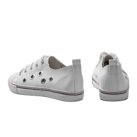 White leather sneakers FG-2767 1