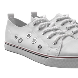 White leather sneakers FG-2767 2