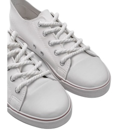 White leather sneakers FG-2767 3