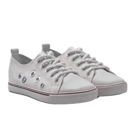 White leather sneakers FG-2767 4