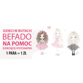 Befado children's shoes blanka princess 115X007 black ecru 2