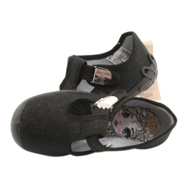 Befado children's shoes blanka black 115X006 silver 7