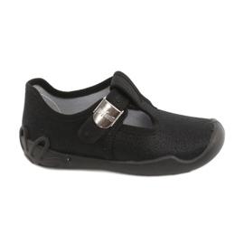 Befado children's shoes blanka black 115X006 silver 2