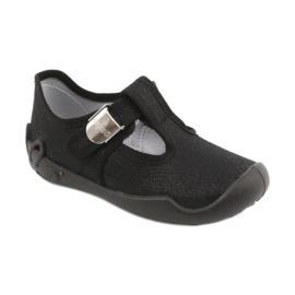 Befado children's shoes blanka black 115X006 silver 3
