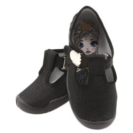 Befado children's shoes blanka black 115X006 silver 6