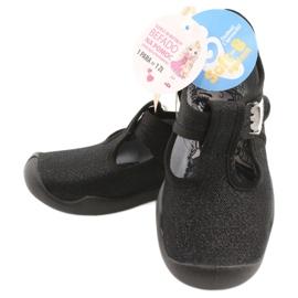 Befado children's shoes blanka black 115X006 silver 8