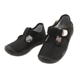 Befado children's shoes blanka black 115X006 silver 5