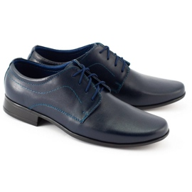 Lukas Children's formal communion shoes J1 navy blue 4