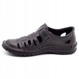 Joker Men's openwork shoes 501 gray grey 1