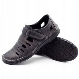 Joker Men's openwork shoes 501 gray grey 3