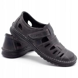 Joker Men's openwork shoes 501 gray grey 4