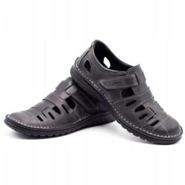 Joker Men's openwork shoes 501 gray grey 6
